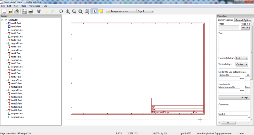 How to modify the title block of the schematics sheet in KiCad v5