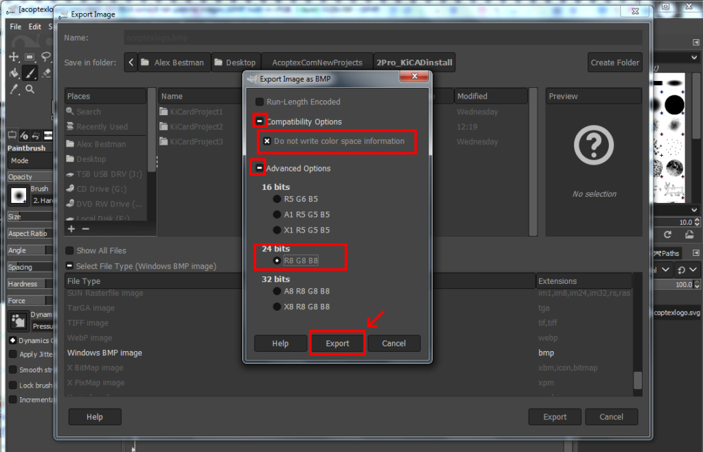 How to add logo or image on the PCB board in KiCad v5