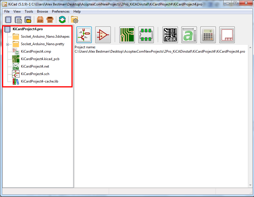 project templates in KiCad v5