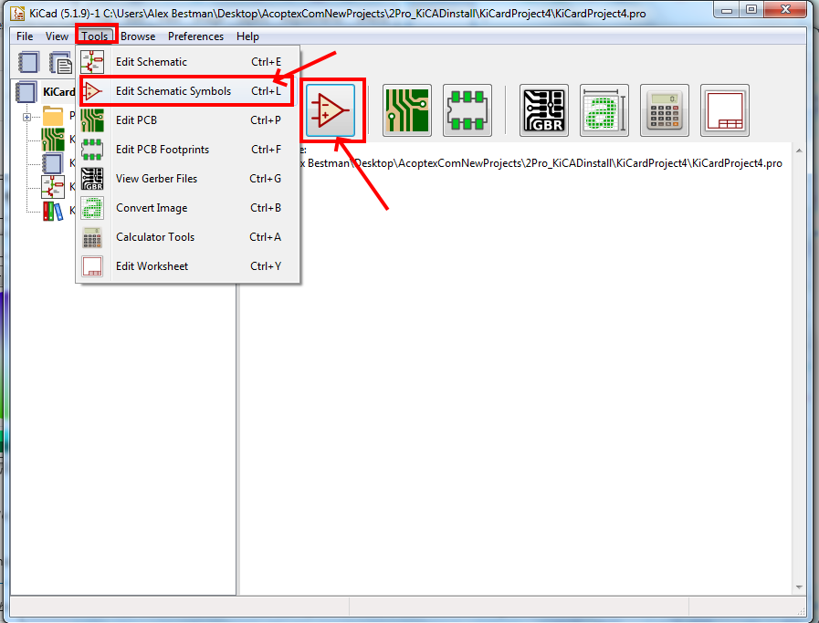 how to create new symbol and new library in KiCad v5