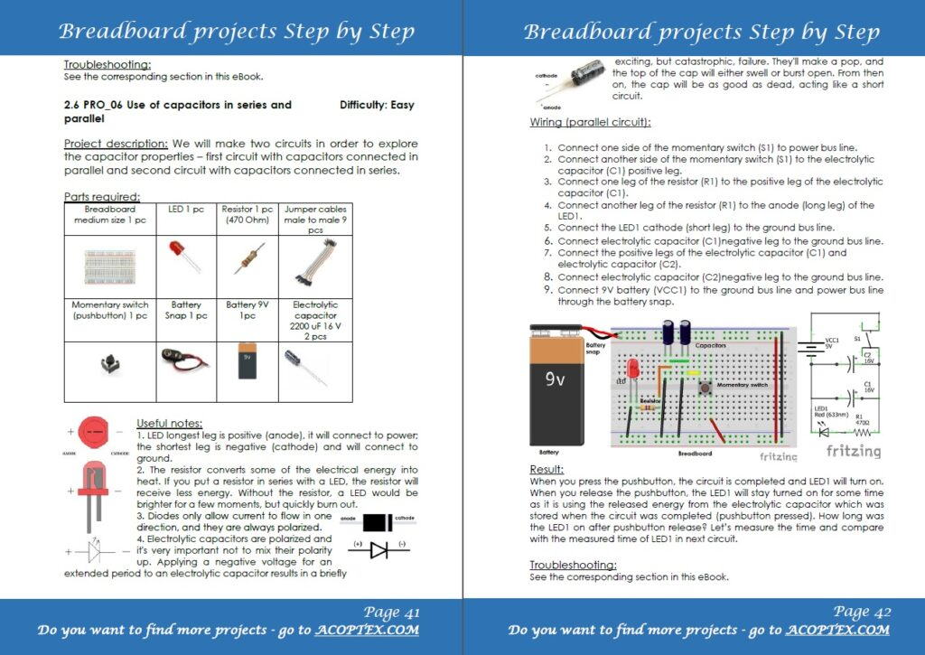 Breadboard projects example